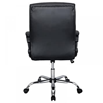 comfort office chair armless amazoncom black pu leather ergonomic high back executive best desk task office chair home kitchen