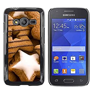 Exotic-Star ( Design Gingerbread Ginger Bread ) Fundas Cover Cubre Hard Case Cover para Samsung Galaxy Ace4 / Galaxy Ace 4 LTE / SM-G313F