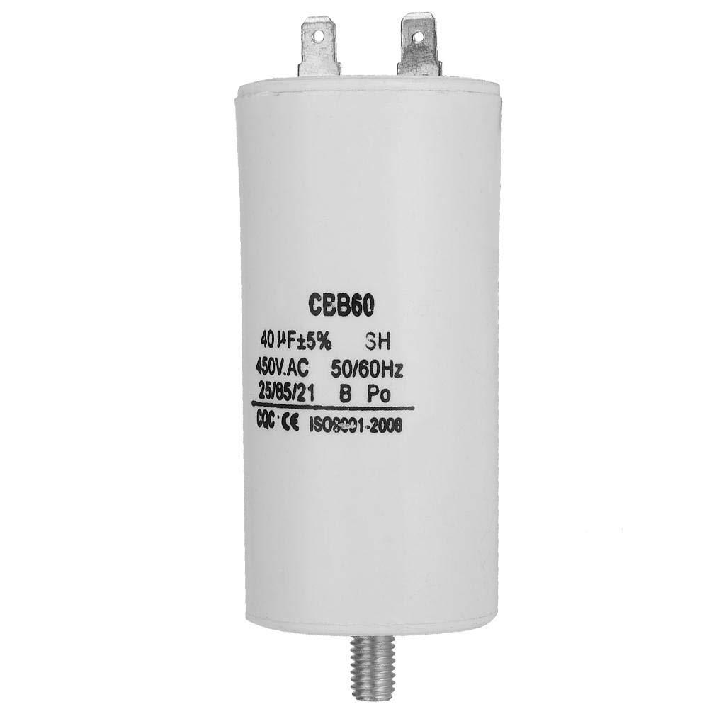 CBB60 Kondensator 450V 40uf,Jectse Betriebskondensator Motorkondensator Wasserpumpenkondensator mit hohem Isolationswiderstand,/Überspannungsschutz f/ür Waschmaschinen,Pumpen,K/ühlschr/änken
