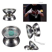 Edealing 1PCS High Quality Professional Stainless Steel YoYo Ball Bearing String Trick Kids Toy Fun Gift