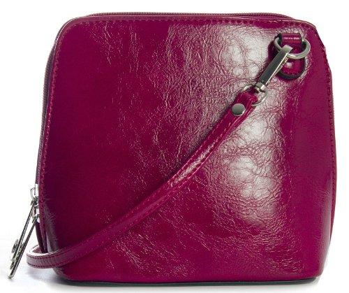 Big Handbag Shop - Bolso cruzados de sintético para mujer One Metallic - Baby Pink