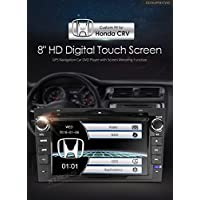 "XTRONS 8"" HD Touch Screen Car Stereo DVD player with GPS Navigator Bluetooth RDS Radio for Honda CRV Kudos Map Card Included"