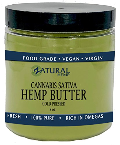 Hemp Seed Butter   100  Pure  Organic   Raw   Handcrafted   Vegan   Therapeutic  1 8Oz