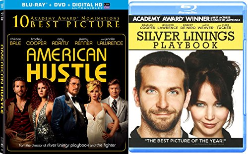 Jennifer Lawrence Silver Linings Playbook   American Hustle Blu Ray 2 Pack Drama Academy Award Winner Movie Set Double Feature Bundle