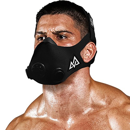 Buy Bargain TRAININGMASK Training Mask 2.0 Black Out Originals Series | Elevation Workout Mask, Card...