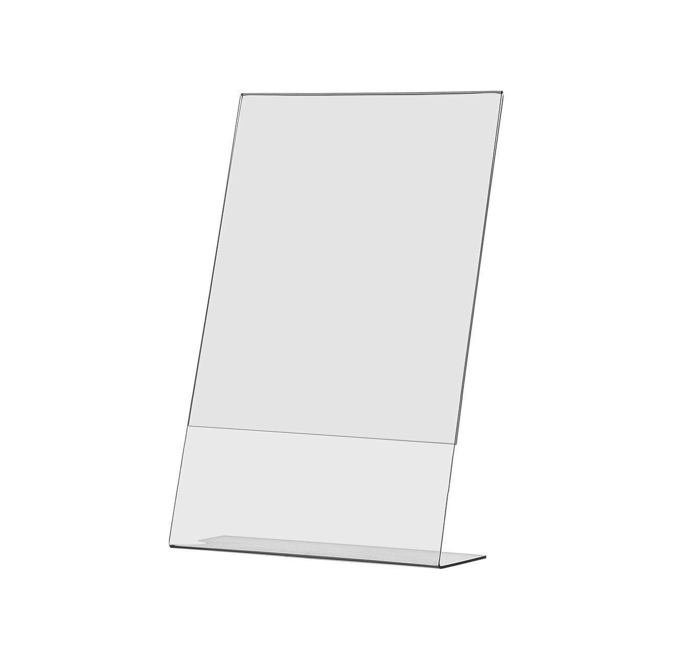 Marketing Holders Sign Holder 8.5''w x 14''h Table Top Side Loading Slant Back Lot of 10 by Marketing Holders