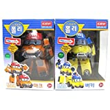 Robocar Poli MARK BUCKY Transformer Robot Car Toy Academy Action Figure 2 Pcs Set