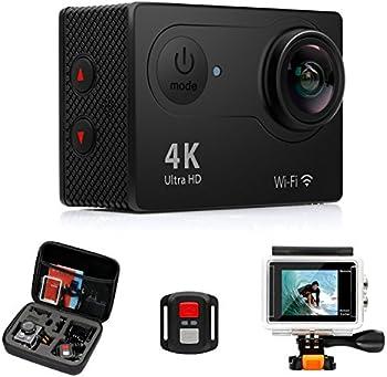 FITFORT 4K WiFi Ultra HD Waterproof Action Camera