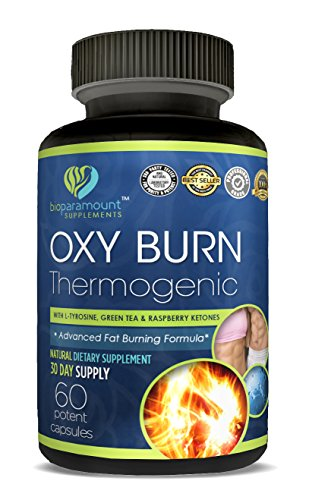 Oxy BurnThermo Fat Burner Capsules - Weight Loss Supplement with Green Tea, Raspberry Ketones, Yohimbe Bark,- Natrual Energy Booster, Enhance Muscle Strength, Non-GMO- Made in ()