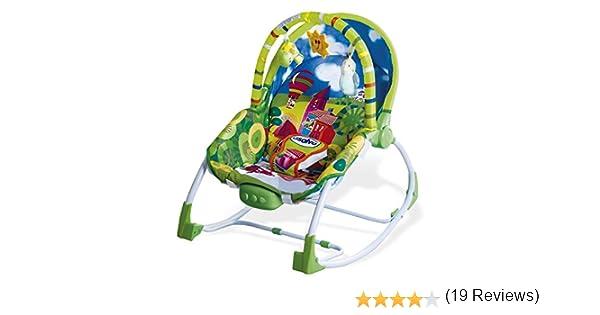 Asalvo Evolutiva - Hamaca para bebé, diseño Ciudad, color verdes ...