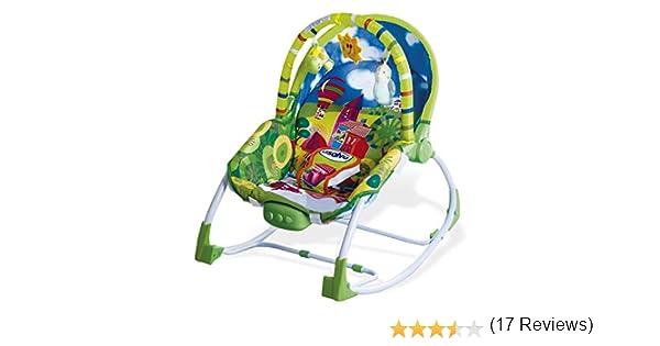 Asalvo Evolutiva - Hamaca para bebé, diseño Ciudad, color verdes: Amazon.es: Bebé