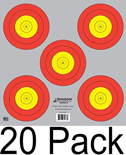 Archery 5 SPOT & 3 SPOT Vegas Targets by Longbow 8, 20, 50 & 200 Packs (5 Spot (20 Pack))