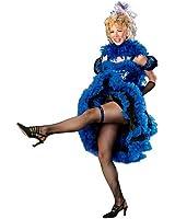 Blue Cancan Girl Costume for Women