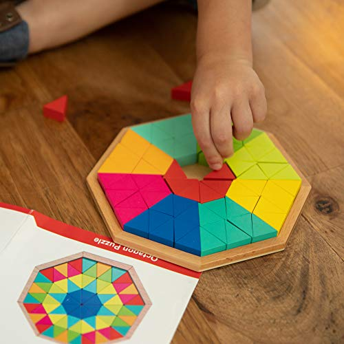 Fat Brain Toys Play Pattern Puzzle - Octagon