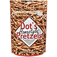 Dot's Homestyle Pretzels 2 lb. Bag (1 Bag) 32 oz. Seasoned Pretzel Snack Sticks