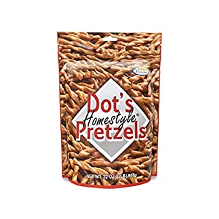 Dot's Homestyle Pretzels 2 lb. Bag (1 Bag) 32 oz. Seasoned Pretzel Snack Sticks