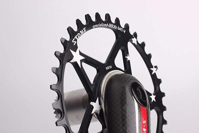 Xennos - Plato para Bicicleta Specialized S-Works Direct Mount BB30 de una Sola Velocidad, círculo Ancho Estrecho ...