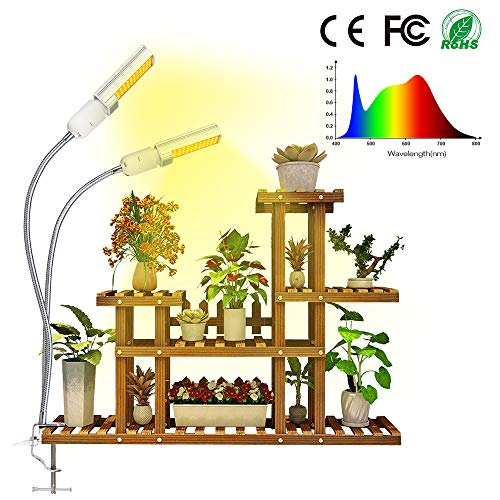 LED Grow Light for Indoor Plants, Relassy 50W Sunlike Full Spectrum Grow Lamp, 4 Dimmable Levels Plant Light with Replaceable Bulb, Double Switch, Professional for Seedling Growing Blooming Fruiting