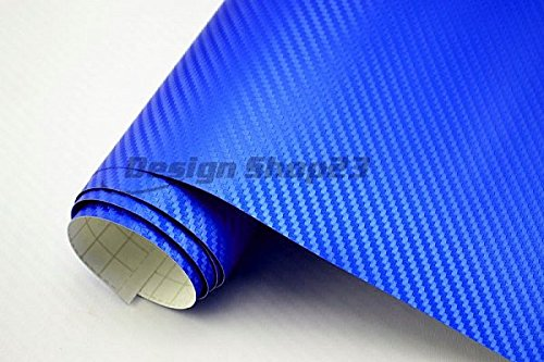 Neoxxim 4,60/€//m2 Premium- Auto Folie BLAU METALLIC 30 x 150 cm- blasenfrei mit Luftkan/älen ca 0,16mm dick 3D Carbon Folie