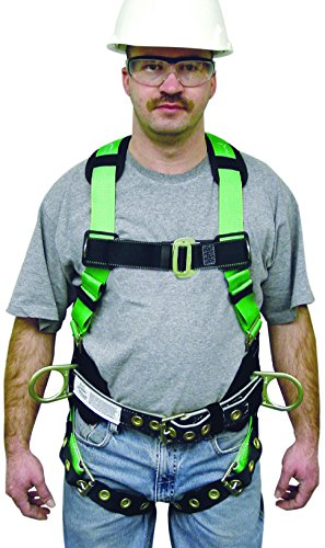 Miller HP High Performance Non-Stretch Full Body Safety Harness with Pull Up Adjustment, Universal Size-Large/XL, 400 lb. Capacity (650T-61/UGK) by Honeywell (Image #2)