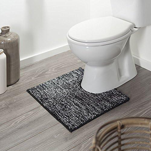 50/x 45/x 3/cm Schwarz Baumwolle Sealskin Teppich Bad//WC