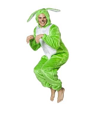 Herren Kostum Overall Hase In Neon Grun Karneval Fasching Gr 60