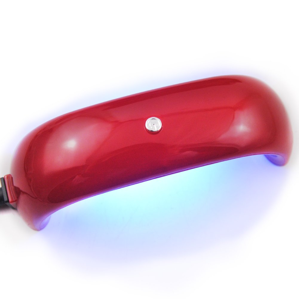 Coscelia Upgrate 12W Mini USB LED Nail Dryer for Nail Curing Nail Gel Polish Lamp for Nail Art Manicure Tools (Red) beautygirlstore