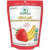 Natierra Nature's Organic Freeze-Dried Bananas and Strawberries | Gluten Free & Vegan | 1.8 Ounce
