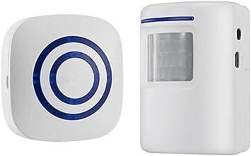 White Wireless PIR Door Chime 100m range