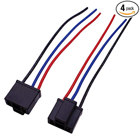 HUIQIAODS H4 9003 HB2 Wiring Harness Headlights Wire Sockets H4 to on