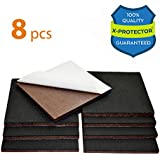 """NON SLIP FURNITURE PADS X-PROTECTOR PREMIUM 8 pcs 4"""" Furniture Pad! Best Furniture Grippers - SelfAdhesive Rubber Feet Couch Stoppers – Ideal Furniture Floor Protectors for Fixation in Place Furniture"""