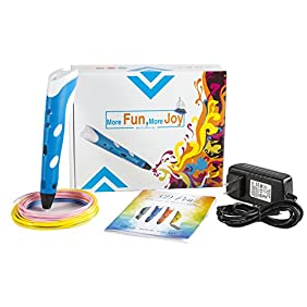 Maven Gifts: 3D Pen for 3D Doodling, Design, and Arts and Crafts Comes with Pen, 3 Multicolored Filament Refills, Charging Cord, and Instruction Manual  Easier than Drawing Ages 8 and Up