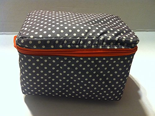 Picnic Dots - Green Polka Dots Picnic Lunch Bag Case Tote Reusable Insulated Cooler Travel Zipper Bags 7.8