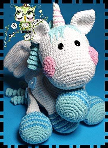 DRAGON UNICORNIO FANTASÍA PERSONALIZABLE (Bebé, crochet, ganchillo, muñeco, peluche, niño