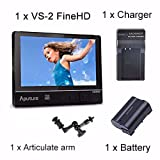 Aputure VS-2 Kit FineHD LCD Field Digital Monitor 7inch V-Screen VS-2 FineHD for DSLR Camcorder With Battery and Charger + EACHSHOT Cleaning Cloth