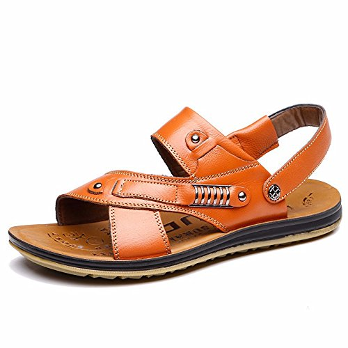 Sommer die neuen Männer sehnen Bottom Beach Schuh Sandalen Sandalen Sandals Schuh Cover Foot First Layer Fell Leder, yellow1, US = 8, UK = 7.5, EU = 41 1/3, CN = 42