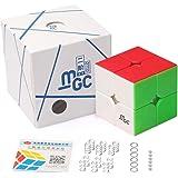 D-FantiX YJ MGC 2x2 Speed Cube Stickerless YJ MGC Magnetic 2x2x2 Puzzle Cube Toy