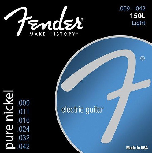 Pure Nickel Electric Strings - 3 Sets of Fender 150L Pure Nickel Ball End 9-42 Light Electric Guitar Strings