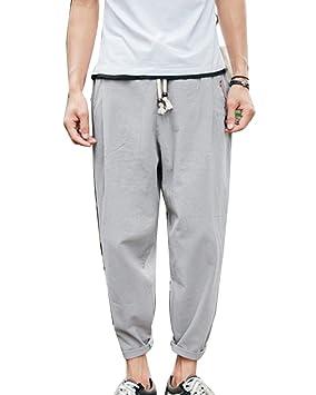 Pantalones Harem Pantalon Jogger Hombre Baggy Casual Pantalones De Lino  Tamaño Grande Gris M  Amazon.es  Deportes y aire libre e3023f48ad63