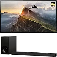 Sony XBR65A1E 65 OLED 4K HDR X-Reality PRO Triluminos Android TV with Google Home Compatibility 3840x2160 & Sony HTZ9F 3.1Ch 4K HDR Compatible Dolby Atmos Soundbar with Built-in WiFi & Bluetooth