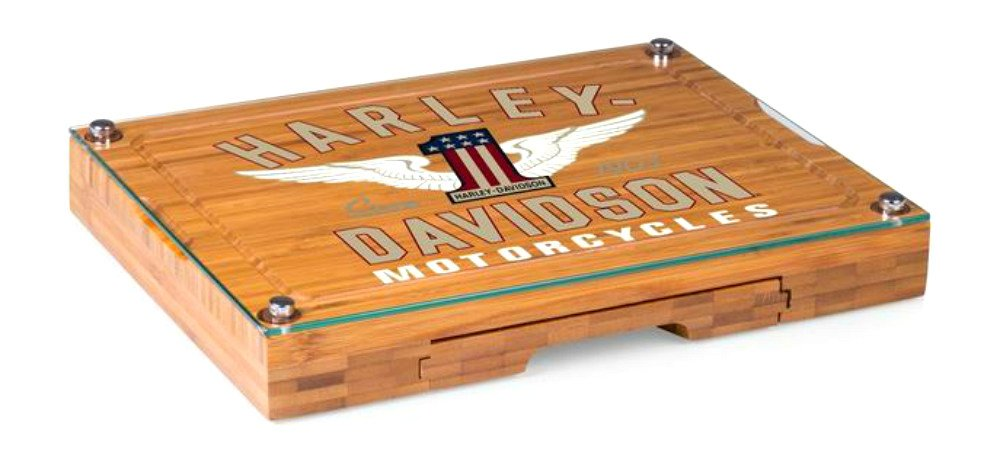 Picnic Time Harley-Davidson 5-Piece Concerto Cheese Board Serving Set,  #1 Motorcycles