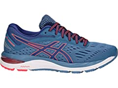 GEL-Cumulus celebrates its 20th anniversary with premium technology and a refined design that offers optimal support and comfort for runners of all levels. A FlyteFoam midsole teams up with rearfoot GEL cushioning for a smooth, lightweight ri...