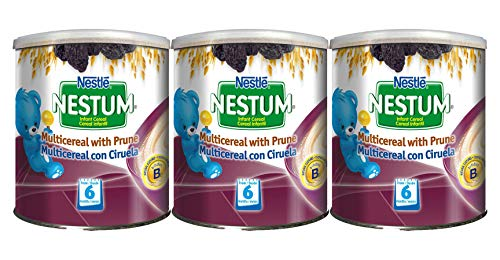 Nestle Nestum Infant Cereal, Multicereal with Prune, 9.5 OZ (3pack)