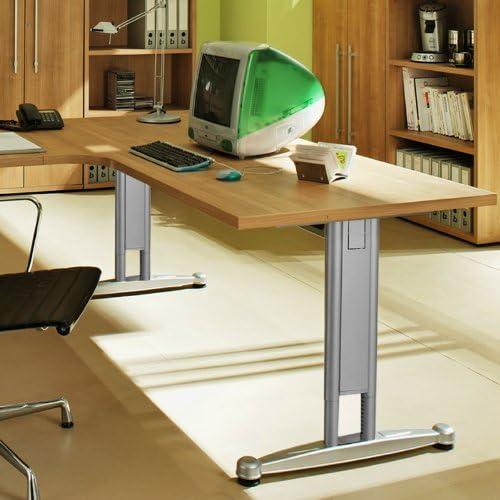 Escritorio 180 cm Noce nb. Altura Regulable Oficina Mesa oficina ...
