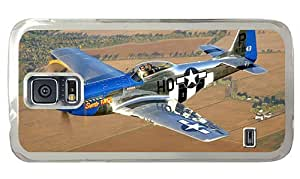 Hipster Samsung Galaxy S5 Case custom made P51 Classic Airplane PC Transparent for Samsung S5