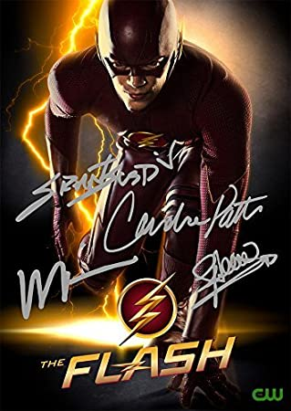 The Flash TV Series Print - Cast Grant Gustin Wentworth Miller Candice  Patton Stephen Amell (11 7