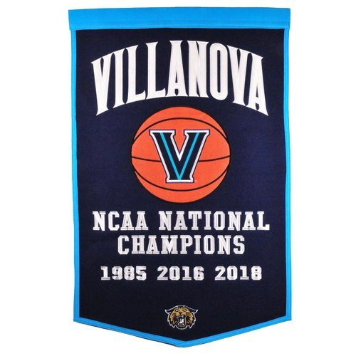 Villanova Wildcats Basketball Championship Dynasty Banner - with hanging rod ()