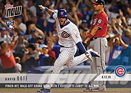 Amazoncom 2018 Topps Now Baseball 591 David Bote Rookie Card