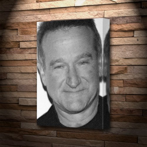ROBIN WILLIAMS - Canvas Print (LARGE A3 - Signed by the Artist) #js001