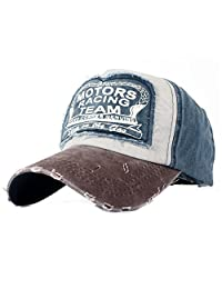 Yusongirl Vintage Washed Denim Baseball Cap Cotton Dad Hat Adjustable Size Unisex